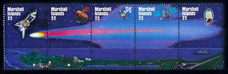 [65043] Marshall Islands 1985 Space Travel Weltraum Halley Comet  MNH