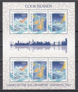 Cook Is., 2012 issue. London Olympics sheet of 2 sets. ^