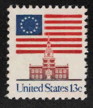 USA Scott 1622c MNH** 13c Flag  stamp