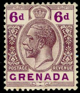 GRENADA SG97v, 6d dull & deep purple, LH MINT. WMK MULT CA.