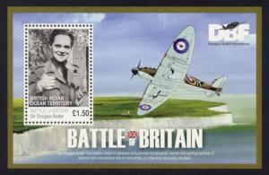 British Indian Ocean Territory Sc# 405 MNH WWII Aces (S/S)