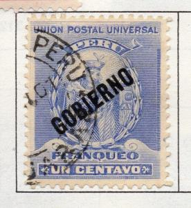 Peru 1895-1902 Early Issue Fine Used 1c. Optd 182266