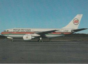 7925 Aviation Postcard  KENYA AIRWAYS AIRBUS A-310  Airlines
