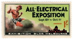 (I.B) Australia Cinderella : All Electrical Exposition 1/- (Melbourne)