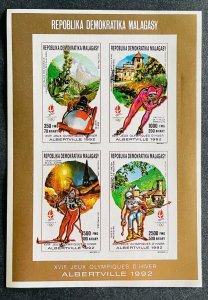 Mini Sheet Stamps O.G Albertville 92/ Madagascar 90 IMPERF.