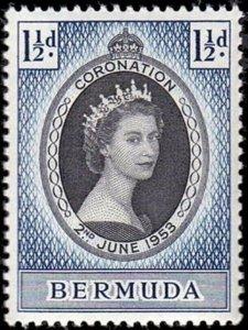 BERMUDA - 1953 - QE II - CORONATION ISSUE - # 142 - MINT - MNH SINGLE!