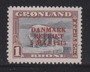 Greenland Scott # 25 VF-OG-MNH nice color cv $ 180 ! see pic !