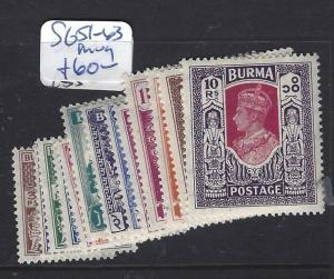 BURMA (P1312B) KGVI  SG 51-63   MOG