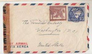 PERU, c1943 Censored cover, Lima to USA.