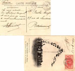 Ivory Coast 10c Faidherbe 1907 Lahou, Cote D'Ivoire PPC (En attendant l'arriv...