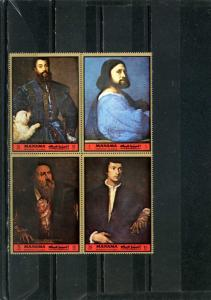 MANAMA 1972  PAINTINGS BY TITIAN SHEET OF 4 STAMPS MNH