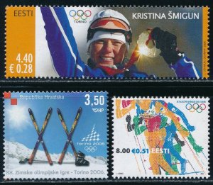 Estonia -Turin Olympic Games Sports Stamps (2006)