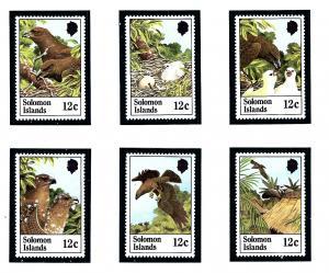 Solomon Is 465-70 MNH 1982 Birds