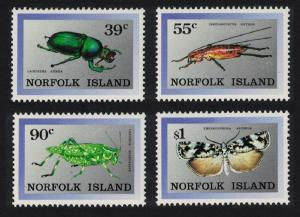 Norfolk Beetle Butterfly Endemic Insects 4v SG#456-459 SC#448-451