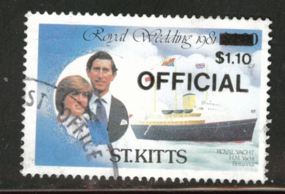 St Kitts Scott o27 used 1983 Official stamp