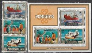 Penrhyn 228-31  MNH  World Communication Year  1983
