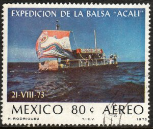 MEXICO C458 Transatlantic voyage of Acali raft USED. F-VF. (1313)