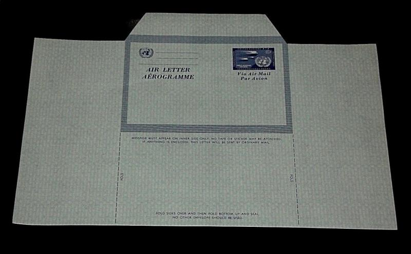U.N.NEW YORK 1954, #UC2a, AIR LETTER SHEET UNFOLDED , MNH, NICE! LQQK!