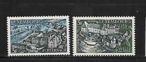 LUXEMBOURG, 483-484, MINT HINGED, CASTLE AND OPEN AIR THEATER