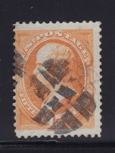 141 F-VF used neat fancy cancel with nice color cv $ 1500 ! see pic !
