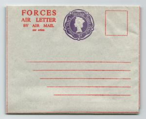 GB QEII Forces Air Letter / 3d / Unused - Z13764