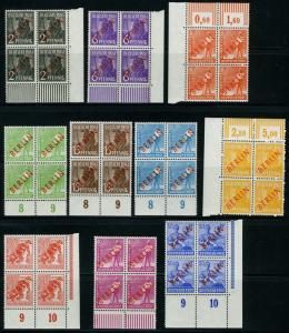 GERMANY BERLIN   SCOTT#9N21/34, Mi#21/34 RED OVERPRINTS BLOCK SET OF 4  MINT NH