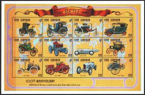 Gambia. 1993. Small sheet 1592-1615. Vintage cars, Ford. MNH.