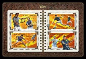 HERRICKSTAMP NEW ISSUES ST. THOMAS Tennis Sheetlet