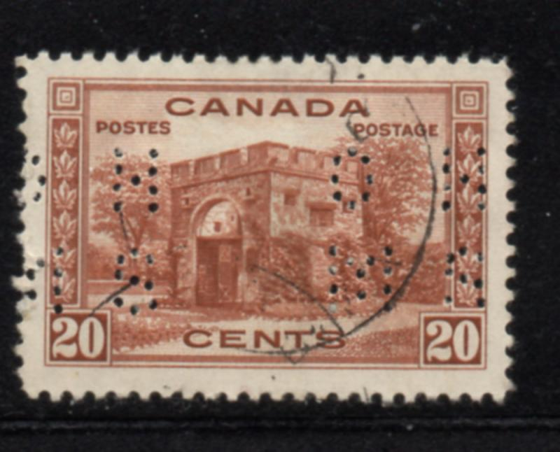 Canada USC#O-243 1938 20 c perforated OHMS Official stamp used