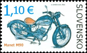 Stamps of Slovakia 2013. - Technical monuments: Historical motorcycles-Manet M90