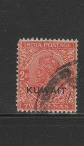 KUWAIT #23  1929  2a   KING GEORGE VI OVERPRINT   F-VF  USED  a