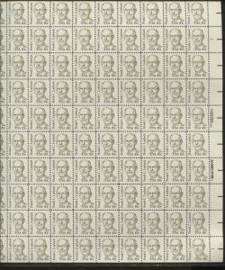 Pane of 100 USA Stamps 1864 American Missionary Frank C Laubach Brookman $87.5