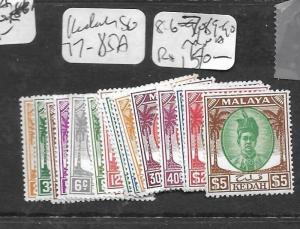 MALAYA KEDAH   (PP2303B) SG 77-85A, 86-7, 89-90  MNH