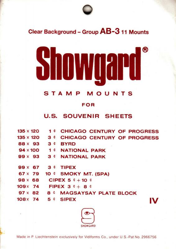 SHOWGARD CLEAR MOUNTS GROUP AB (11) RETAIL PRICE $8.75