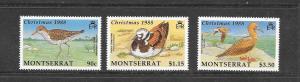 BIRDS - MONTSERRAT #703-5  MNH