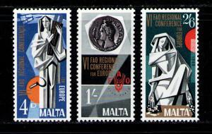 MALTA 1968 MNH SC.394/396 FAO