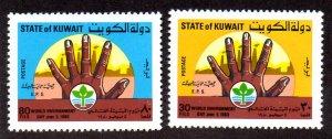 KUWAIT 818-819 MNH SCV $3.05 BIN $1.55 ENVIRONMENT