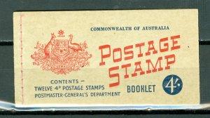 AUSTRALIA #318a CPLT BKLT WITH 2 PANES & INTERLEAVES...MNH...$58.00