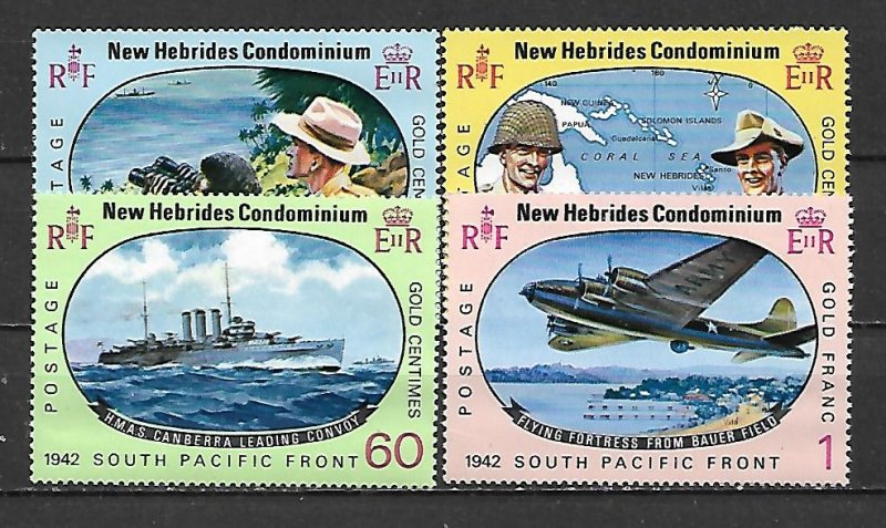 New Hebrides MH 123-6 South Pacific Front