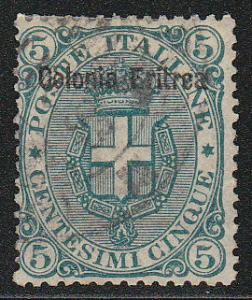 Eritrea Stamps of Italy Ovpted ( Scott #3) Used