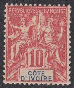 Ivory Coast 6 MLH CV $130.00