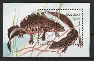 Laos M/S Used Lizards 1994