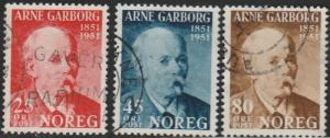 Norway, #318-320 Used,  From 1951