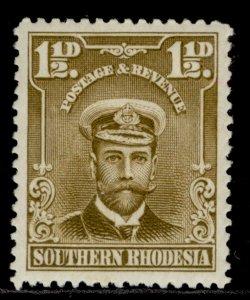 SOUTHERN RHODESIA GV SG3, 1½d bistre-brown, M MINT.