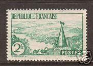 France Sc 299 MLH.  1935 2f Breton River cplt, VF
