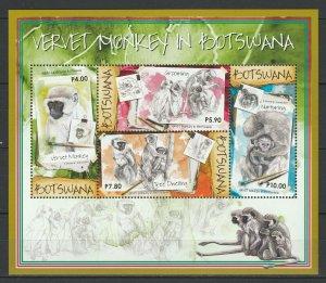 Botswana 2015 Fauna Animals Monkeys MNH sheet