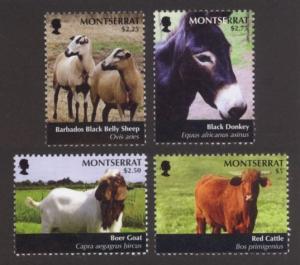 Montserrat Sc# 1265-8 MNH Farm Animals