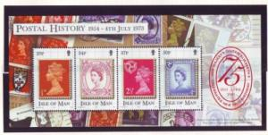 Isle of Man Sc 900 2001 75th birthday QE II stamp sheet mint NH