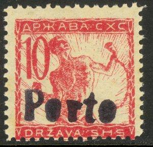 YUGOSLAVIA SLOVENIA 1919 10f Chainbreaker w Porto Ovpt Sc 3L3 Postage Due MH
