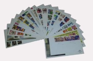 Netherlands 1996 Complete Year Set of 18 unaddressed First Day Covers FDC